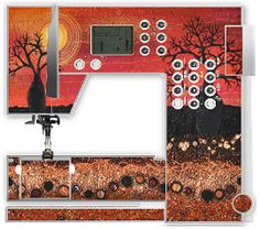 Tatoo artwork on a Bernina Sewing Machine