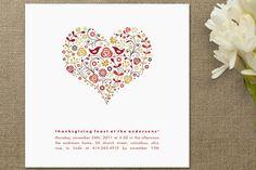 Heart invitations