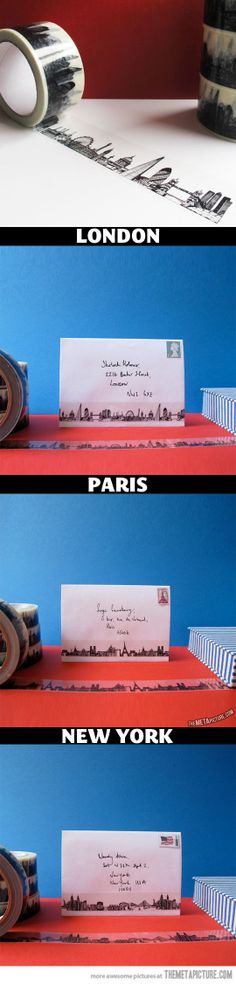 Funny pictures about Creative sticky tape of city skylines. Oh, and cool pics about Creative sticky tape of city skylines. Also, Creative sticky tape of city skylines. Rock The Casbah, Glue Book, Gadgets And Gizmos, Designer Toys, Wishing Well, Memory Books, City Skylines, Fun Facts, Cool Designs