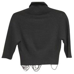 Pre-Owned Céline Price Just Lowered Cropped Cashmere Turtleneck ($450) ❤ liked on Polyvore featuring tops, black, turtleneck top, celine top, turtle neck crop top, cut-out crop tops and turtleneck crop top
