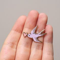 Sparrow Enamel Pin by lovelikedesigns on Etsy
