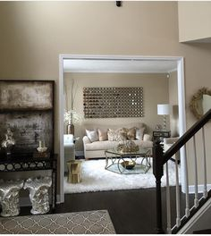 Beige rooms with hints of gold, charcoal, and black