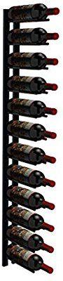 Amazon.com: Ultra Wine Racks Cork Out 12 Bottle Display Wall Mounted Wine Rack (Satin Black): Kitchen & Dining