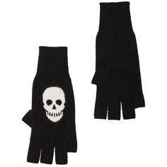 Autumn Cashmere Skull Fingerless Gloves Accessories ($110) ❤ liked on Polyvore featuring accessories and gloves