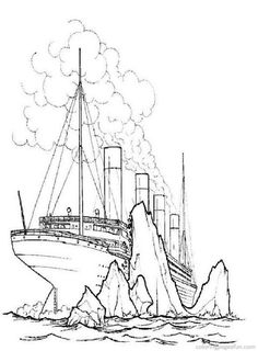 18 best coloring pages lineart titanic images printable coloring Mini LEGO Titanic free printable titanic coloring pages