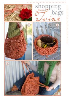 Love the purse made from bailing twine.  I have a tone of this stuff and never know what to do with it.  Seems like you should be able to do something cool with it!