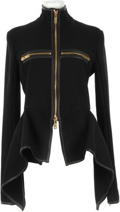 GARETH PUGH Virgin Wool and Lambskin Asymmetrical Jacket Abrigos Y  Chaquetas cad1f739ddc1