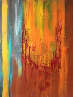 ARTFINDER: Abstract , // art painting // abstrac... by Mo Tuncay - art painting // abstract painting // original painting // Large wall art //20x24 inches -Mo Tuncay I used paletknife brushes during painting ,
