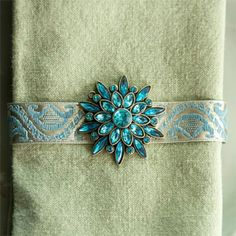 Easy DIY Bejeweled Napkin Rings
