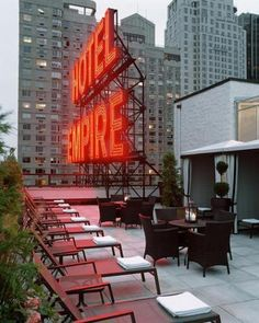 Empire Hotel rooftop. 44 West 63rd street