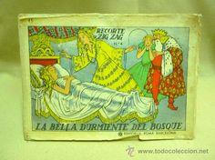 LIBRO, CUENTO, LA BELLA DURMIENTE DEL BOSQUE, EDITORIAL ROMA, Nº 4, RECORTE ZIG ZAG