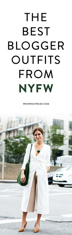 Fashion week looks from Gala Gonzalez, Chriselle Lim, and more top bloggers