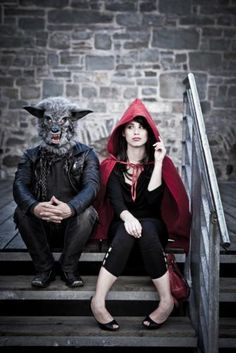 little red riding hood & the big bad wolf - #couple #costume for #Halloween