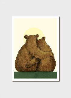 Art And Illustration, Illustrations Posters, Bear Pictures, Bear Cartoon, Love Bear, Bear Art, Art Drawings, Cute Animals, Artwork