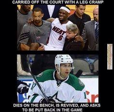 Funny memes basketball players vs hockey players
