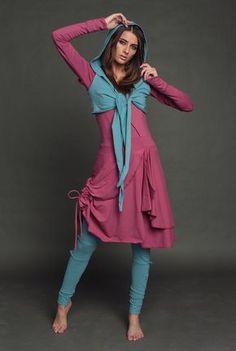 """Купить Сет """"2-ка"""" и Легинсы - Радуга - фуксия, костюм, костюм женский, трикотаж"""