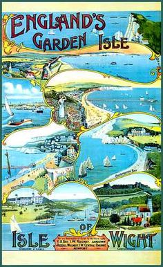 Isle of Wight, Holiday Travel Poster, 1914