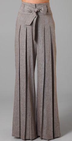 L.A.M.B. Cross Dye Wide Leg Pants | SHOPBOP - unique pants... not sure how they would look on me.