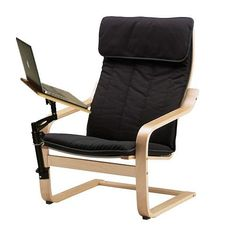 laptop chair with adjustable desk table stand for tablet or laptop
