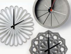 Concrete Clocks |  Concrete product design | Concrete | Interior | Inspiration | design | Beton design | Betonlook | www.eurocol.com
