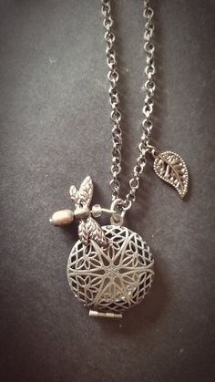 Antiqued SilverAromatherapy Necklace  Essential Oil by AuraStrands