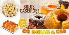 Hummm que Delícia!! 01 Bolo Caseiro + Sopa Paraguaia c/ 08 pedaços + Pão de Queijo c/ 10 pães de R$ 30,00 por apenas R$ 19,90!! Oferta de dar água na boca!!
