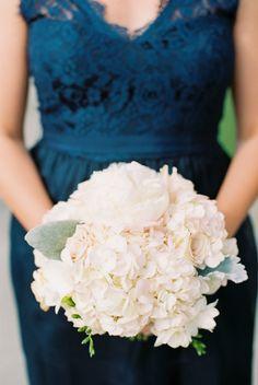 Soft pink bouquet: http://www.stylemepretty.com/2015/04/17/elegant-navy-pink-lakeside-wedding/   Photography: Alexandra Knight Photography - www.alexandraknightphotography.com