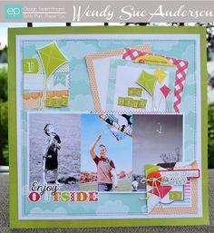 Enjoy Outside Layout from Let's Picnic Mini Theme. #echoparkpaper