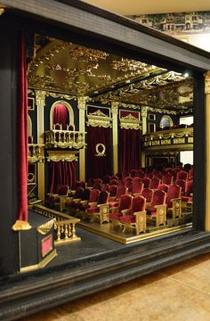 1:12 Scale Movie Theater. Miniatures