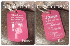 Mother In Law Key Chain Thank you for raising by SayWhatCreations, $26.00