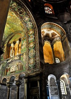 It's been a long time, but I so remember this beautiful place.   Basilica of San Vitale, Ravenna, Italy.