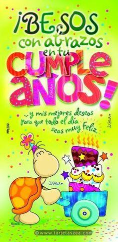 Happy Birthday Quotes, Happy Birthday Wishes, Birthday Greetings, Spanish Birthday Wishes, Birthday Pins, Happy Wishes, Happy B Day, Ideas Para Fiestas, Congratulations