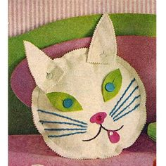 Kitty Sewing Patterns | Kitty Cat Pajama Bag Vintage Sewing Pattern | sewing