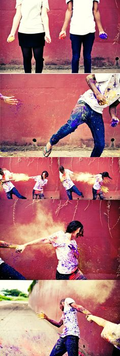 These photographers are so creative, always coming up with the coolest ideas. I love these photos. It's such a fun idea! I am totally doing this soon ♥
