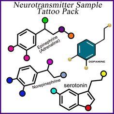 Neurotransmitter Temporary Tattoos | SigmundFreud, Etsy