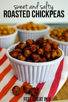 These sugar free Sweet & Salty Roasted Chickpeas are the perfect way to sneak that sweetness into a healthy, high-protein snack! Feel Great in 9 - Healthy Real Food Recipes