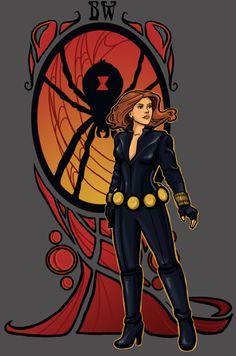 Black Widow by Karen Hallion