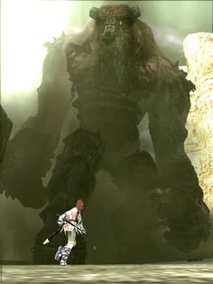 "Screenshot from ""Shadow of the Colossus"" (ps2 game by Team Ico)"