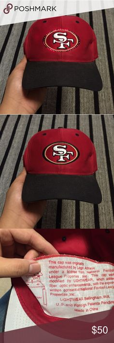 Vintage SF 49ers Fiberoptic Light up SnapBack 9/10 condition. No major flaws. One of a kind hat! Coming from a smoke free home. Logo Athletics Accessories Hats