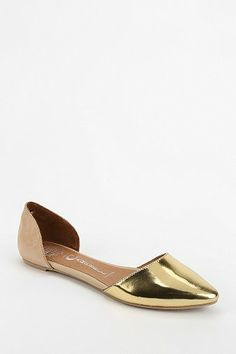 jeffrey campbell metallic hold d'orsay flats