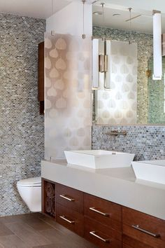 privacy in a bathroom contemporary bathroom by TRG Architects