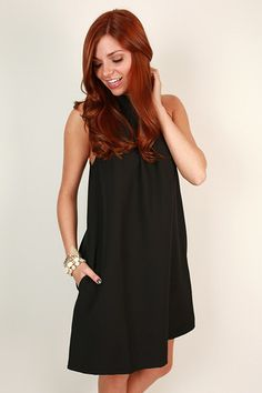 Chic For Life Shift Dress in Black