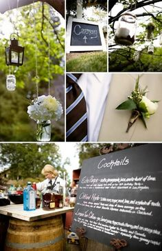Wedding Decor - Casual, fun, sweet, and simple. Love all of these things!!