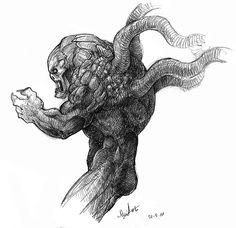 Monstruo tentaculoso a tinta