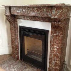pose de chemin e ancienne en marbre avec un insert moderne meuble pinterest. Black Bedroom Furniture Sets. Home Design Ideas