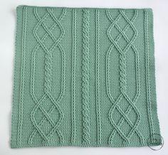 Cable Diamond Pillow - free crochet pattern - MyCrochetory
