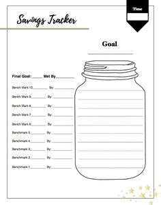 Critical image in savings jar printable