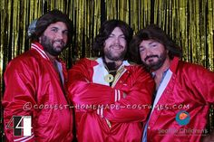 Contest-Winning Bee Gees Group Costume for Men... Coolest Halloween Costume Contest