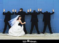 bride and groomsman pic