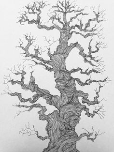 ORIGINAL Tree of Life ink drawing 12x18 in. by PaperBirdCo on Etsy, $80.00
